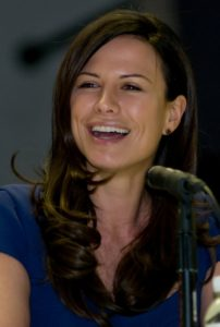 Rhona Mitra at the LA Comic Book Convention 2009