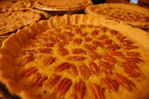 Up Close With a Lovely Lemon Pecan Pie