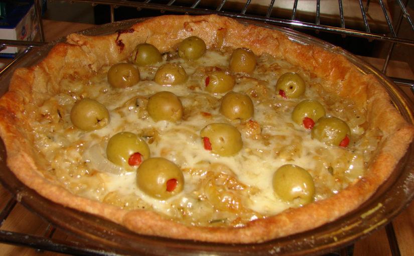 Finished Carmelized Onion Pie