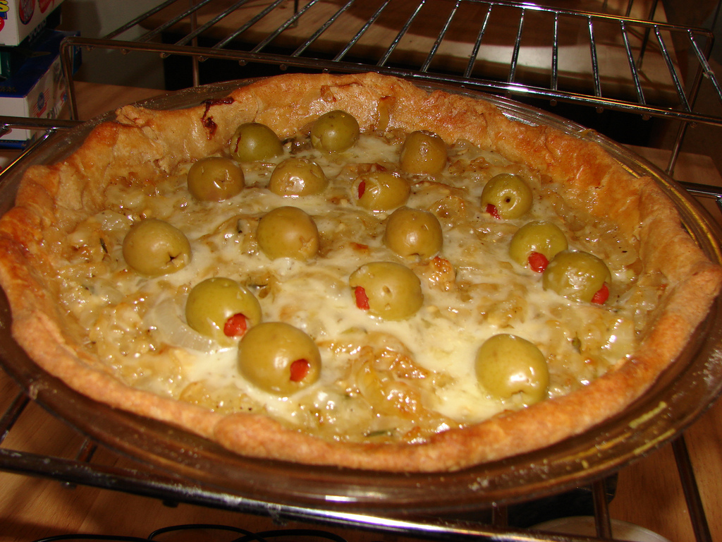 Finished Carmelized Onion Pie