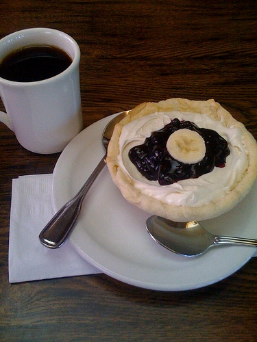 Photo of pie and coffee