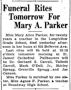 Obituary for Mary Parker