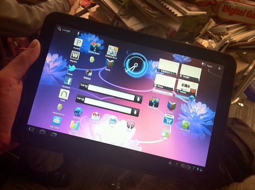 Xoom Home Screen