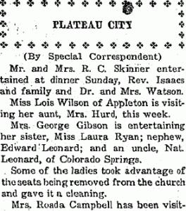Plateau Voice 20 Jul 1923