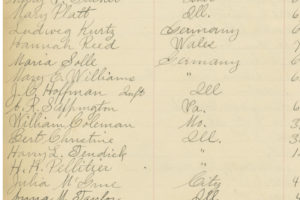 Row 2, image 1 of page containing Maria Solle burial record