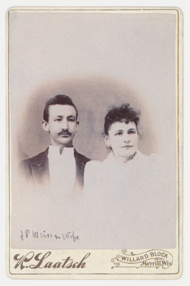 Joseph and Frances Weiss (about 1891)