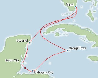 On the Carnival Glory – King Rat Carnival Glory Map on