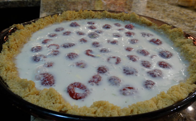 Raspberry Lime Pie with Tequila-Raspberry Sauce