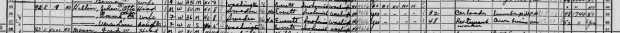 1940 census district 17-182 of Washington, page 6, Otto Hallin excerpt