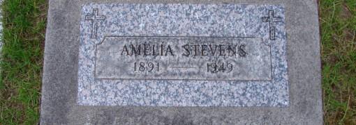 Grave of Amelia Stevens 1891-1949