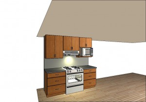 Kitchen mock-up, view 2