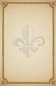 Fleur de Lis Paper Lined Stationery