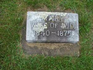 Second marker for Mary Ryan