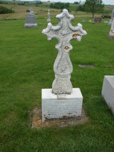 Grave marker for Mary Ryan (1841-1875)