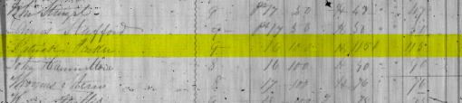 Blanshard Tax Roll 1851 - Patrick Parker