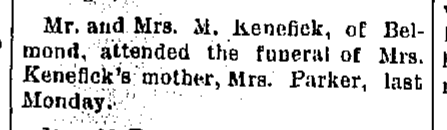 Mrs. M. Kenefick