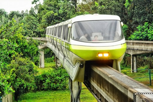 Disney Monorail Lime at MK Station