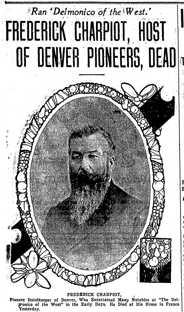 Denver Post - Frederick Charpiot Dead