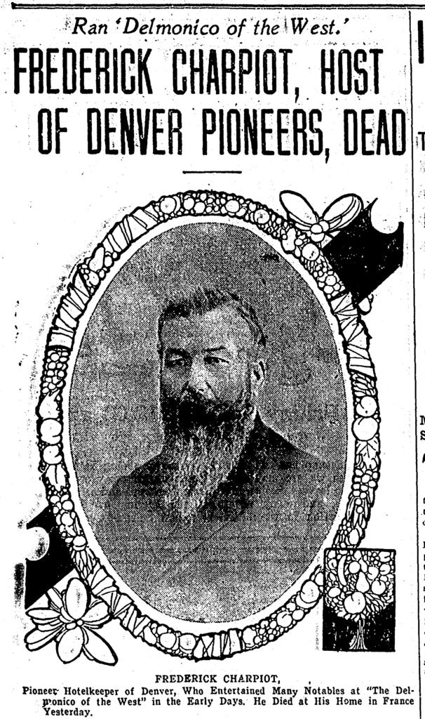Denver Post - Frederick Charpiot Dead