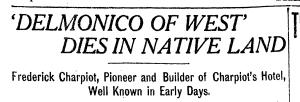 Rocky Mountain News - Delmonico of  West Dies