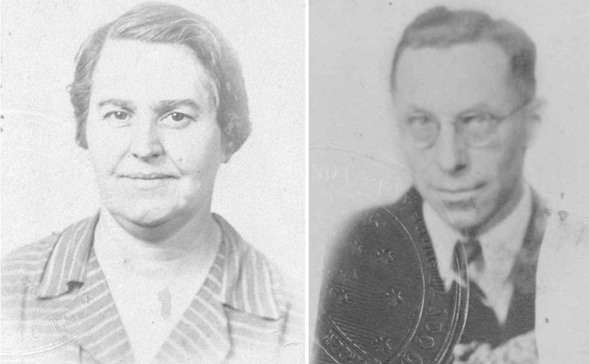 Charles Teasdale and Mae Vonasek in travel records