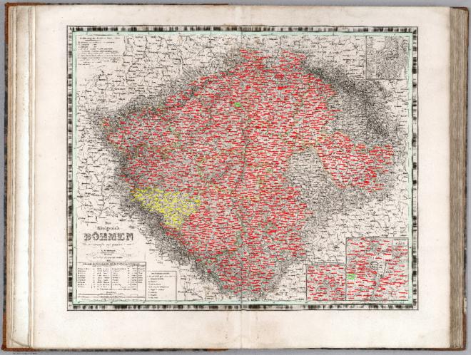 Map of Kingdom of Bohemia  from Allgemeiner Hand Atlas der Ganzen Erde