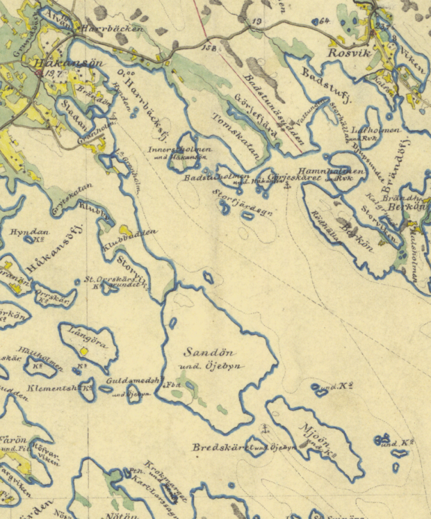 Map of Klubbviken from 1859-78