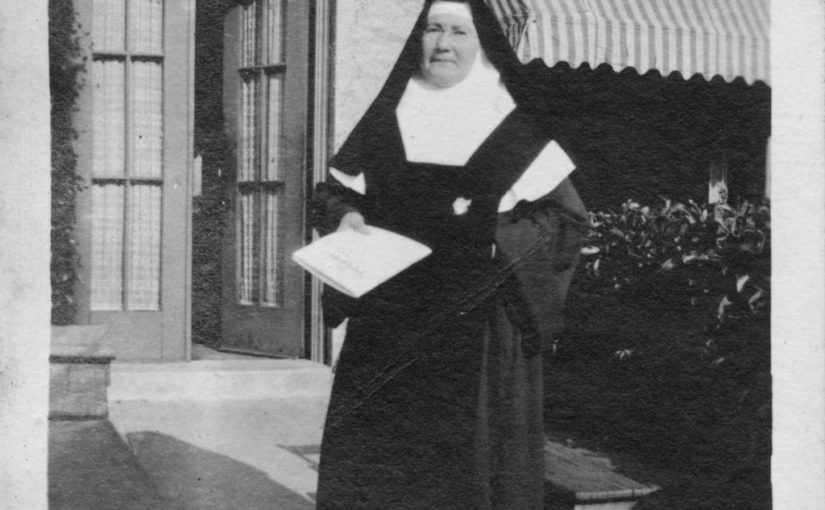Sister Mary Genevieve Parker in Hollywood during the 1920s in full habit